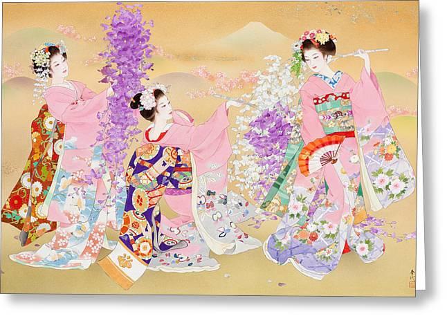 Miyako Odori Greeting Card by Haruyo Morita