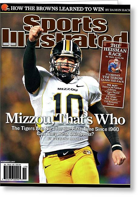 Mizzou That's Who, Sports Illustrated, Chase Daniel Greeting Card