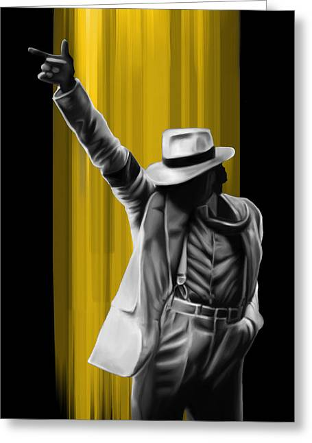 MJ Greeting Card by Donald Lawrence