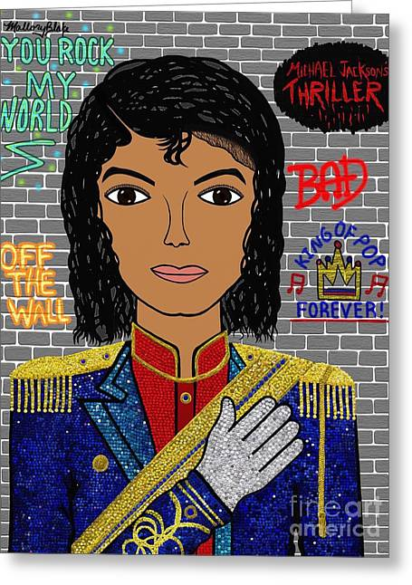 King Of Pop Greeting Card by Mallory Blake