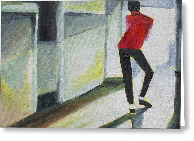Michael Jackson Greeting Cards - Mj one of five number three Greeting Card by Patricia Arroyo