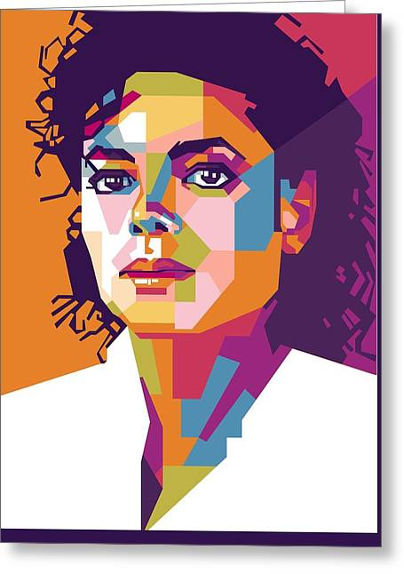 Michael Jackson Pop Art Wpap Greeting Card