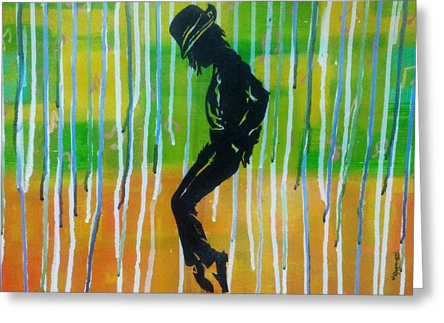 MJ Greeting Card by Vishal Dharmani