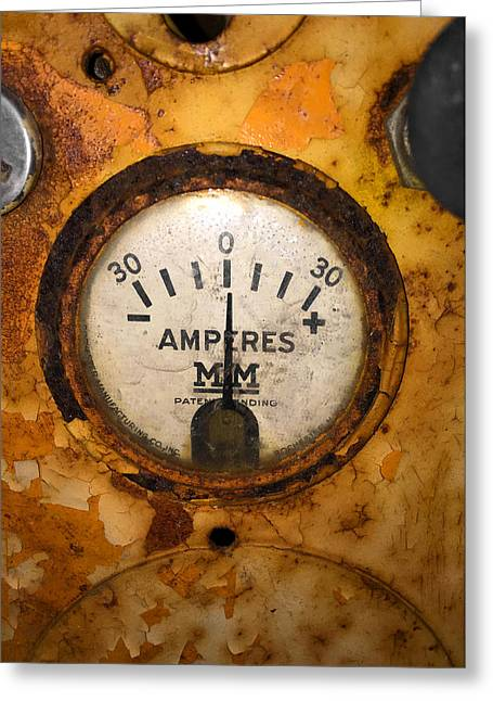Mm Amperes Gauge Greeting Card