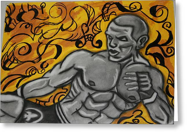 Mma Fighter Greeting Card by Jasmine Harris