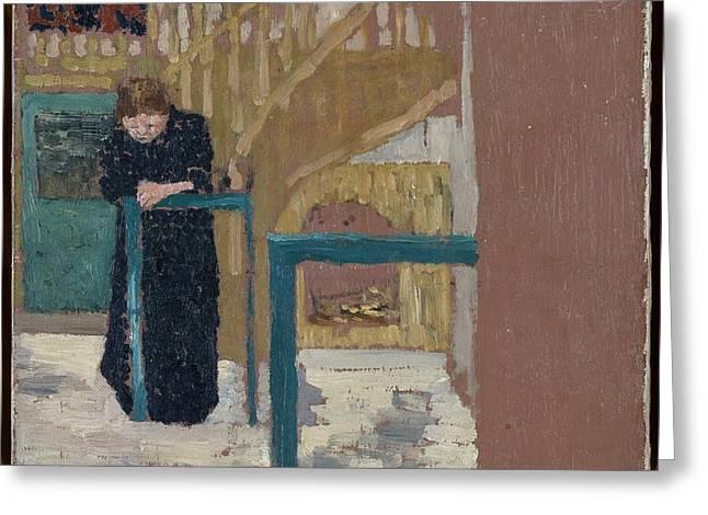 Mme Vuillard In A Set Designer's Studio Greeting Card