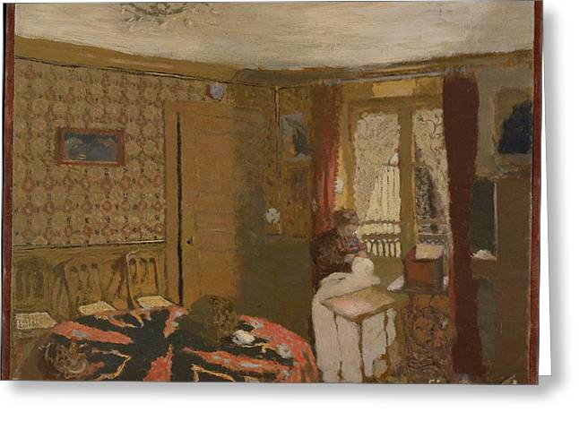 Mme Vuillard Sewing By The Window Greeting Card