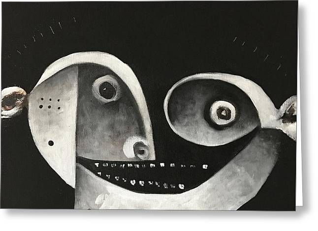 Mmxvii Masks For Despair No 1  Greeting Card by Mark M Mellon