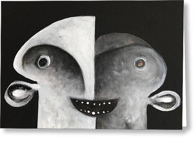 Mmxvii Masks For Despair No 7 Greeting Card by Mark M Mellon