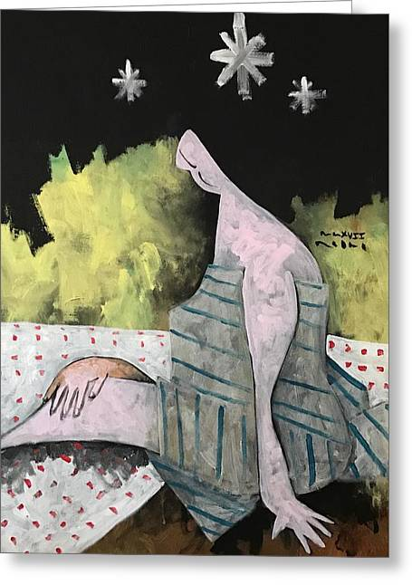Mmxvii Spring Night No 2  Greeting Card by Mark M Mellon