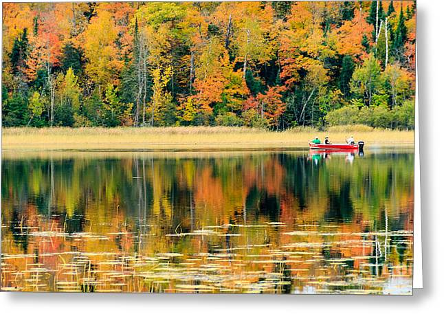 Mn Fall Fishing Greeting Card