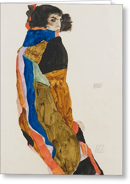 Moa Greeting Card by Egon Schiele
