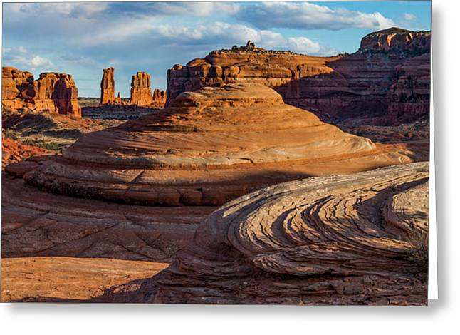 Moab Back Country Panorama 2 Greeting Card