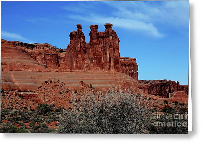 Greeting Card featuring the photograph Moab by Edward R Wisell