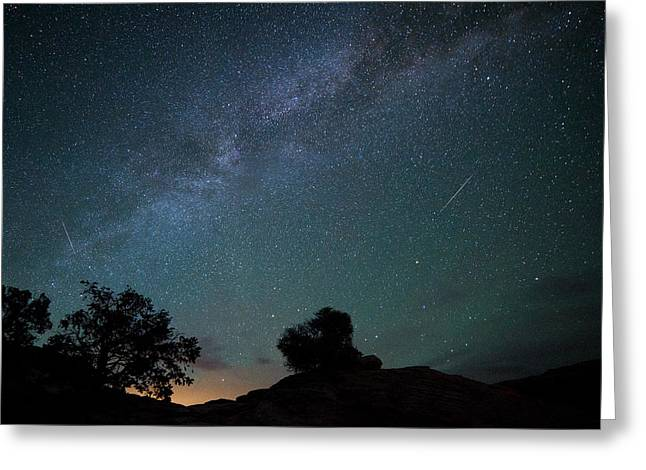 Moab Meteors Greeting Card by Darren  White
