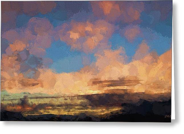 Moab Sunrise Abstract Painterly Greeting Card by David Gordon