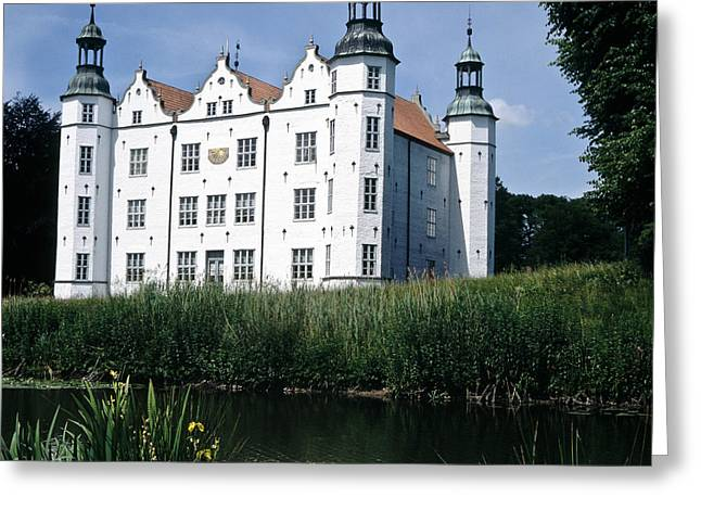 Moated Manor House Greeting Card by Heiko Koehrer-Wagner