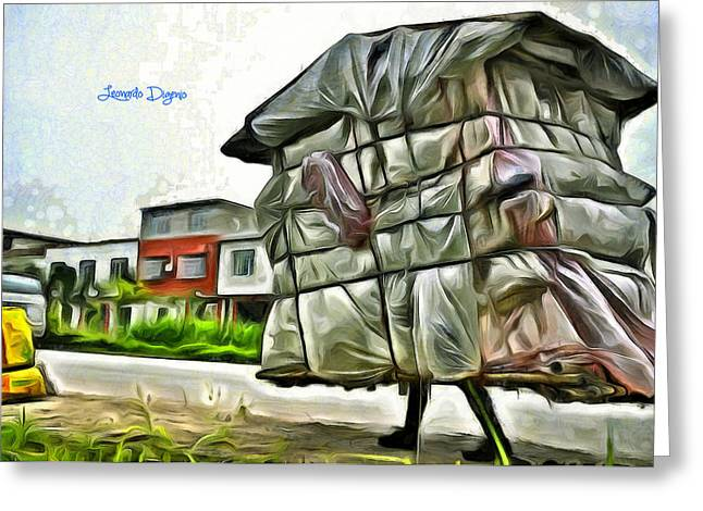 Mobile Home - Da Greeting Card by Leonardo Digenio