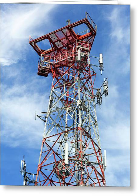 Mobile Phone Cellular Tower Greeting Card