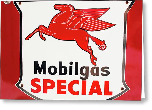 Mobilgas Vintage 82716 Greeting Card
