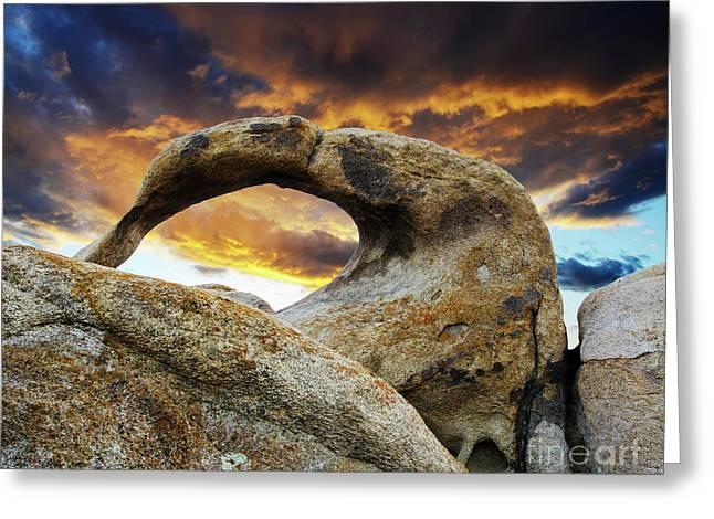 Greeting Card featuring the photograph Mobious Arch California 7 by Bob Christopher
