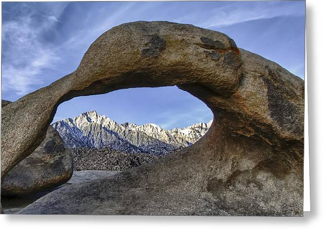 Mobius Arch And Lone Pine Mt. Greeting Card