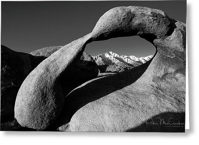 Mobius Arch Black And White Greeting Card by Peter McCracken