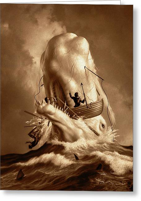 Moby Dick 2 Greeting Card