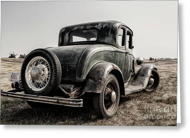 Greeting Card featuring the photograph Model A by Brad Allen Fine Art