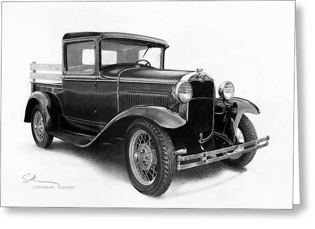 Model A Greeting Card by Christopher Bracken