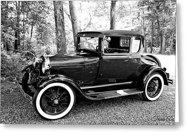 Model A In Black And White Greeting Card