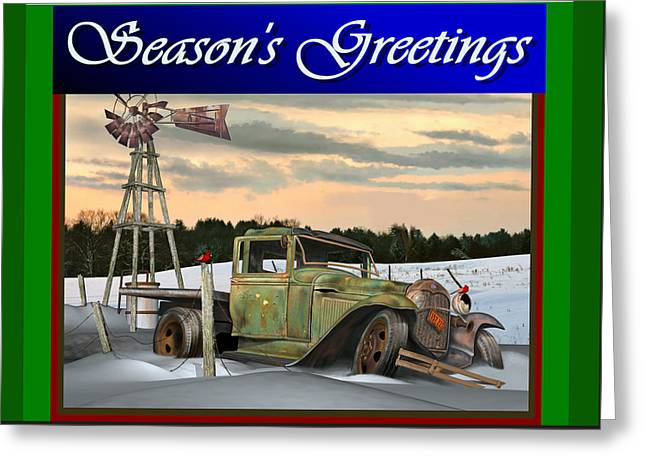 Model A Season's Greetings Greeting Card by Stuart Swartz