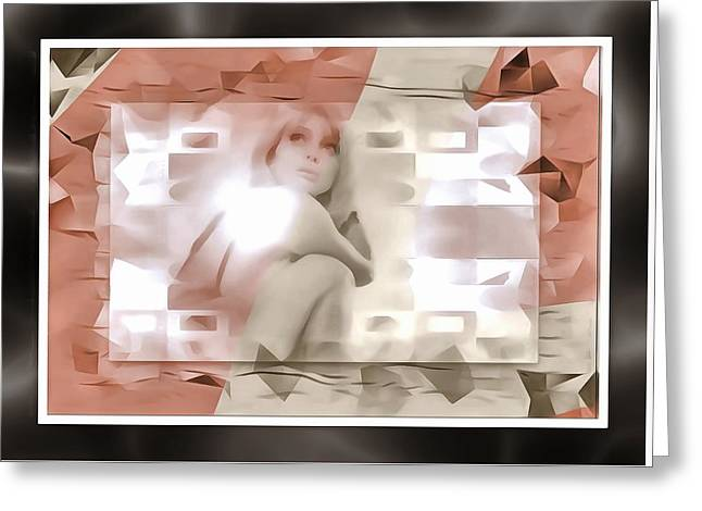 Model In A Box Greeting Card by Mario Carini