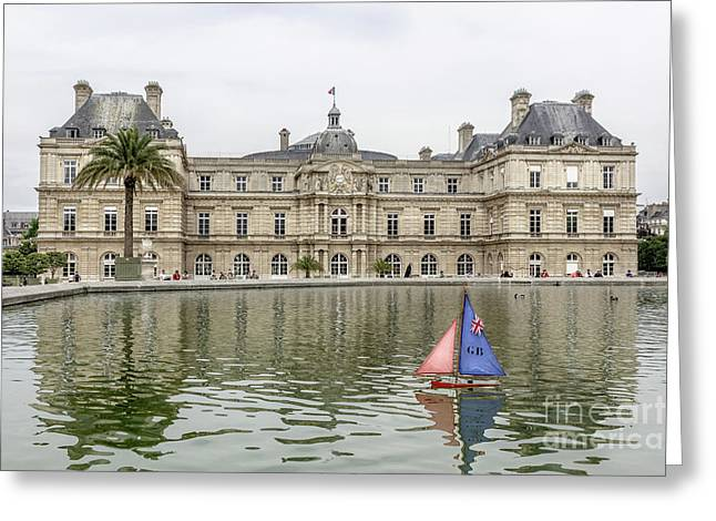 Model Sailboat At Luxembourg Gardens, Paris Greeting Card by Liesl Walsh