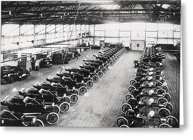 Model T Ford Factory Greeting Card