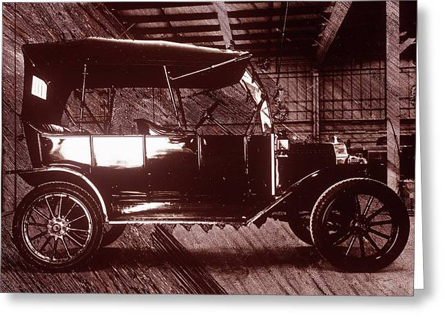 Model T Ford Greeting Card by Jerry McElroy