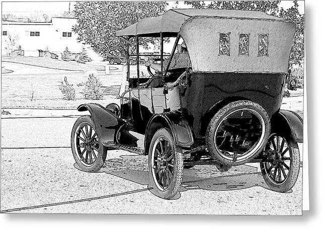 Greeting Card featuring the photograph Model T by John Hix