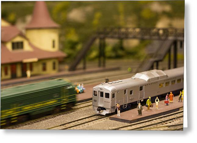 Greeting Card featuring the photograph Model Trains by Patrice Zinck