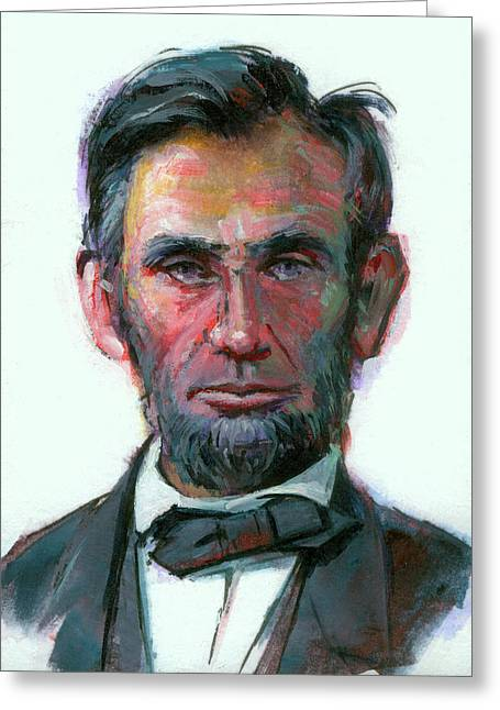 Modern Abe Greeting Card