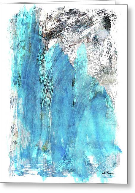 Modern Abstract Art - Blue Essence - Sharon Cummings Greeting Card by Sharon Cummings