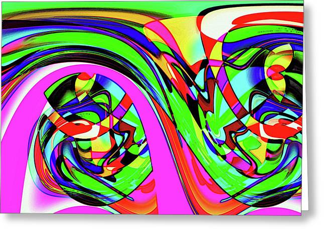 Modern Abstract Greeting Card by Ralph Klein