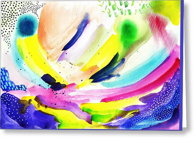 Modern Abstract Watercolor Greeting Card by My Art