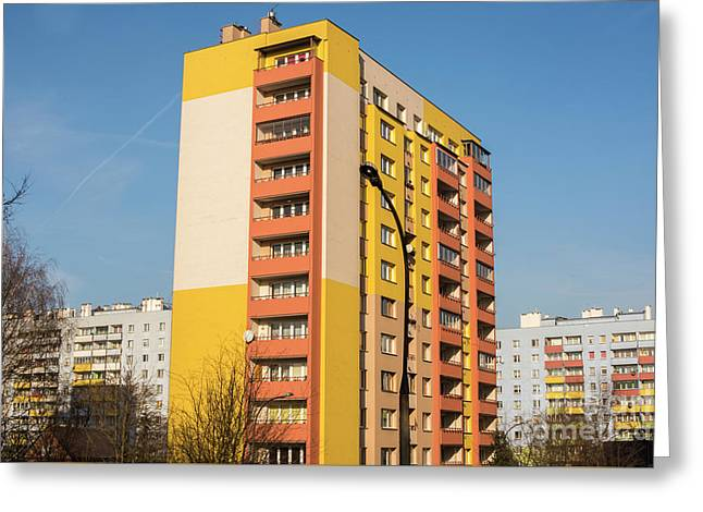 Greeting Card featuring the photograph Modern Apartment Buildings by Juli Scalzi