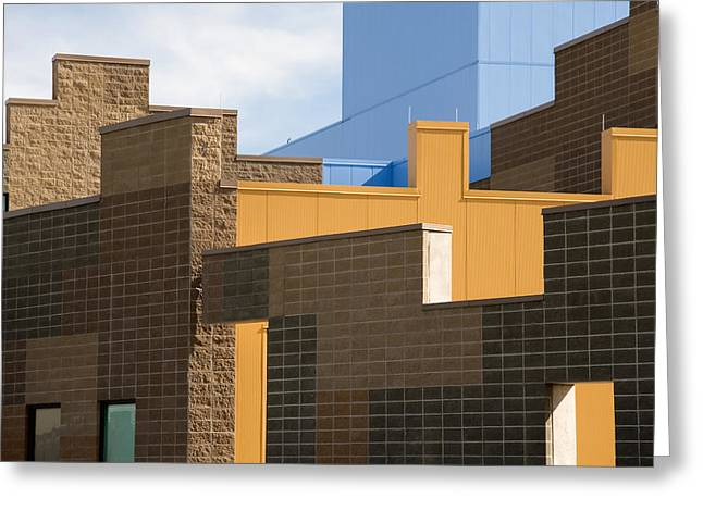 Modern Architecture 2 Greeting Card by Steve Ohlsen