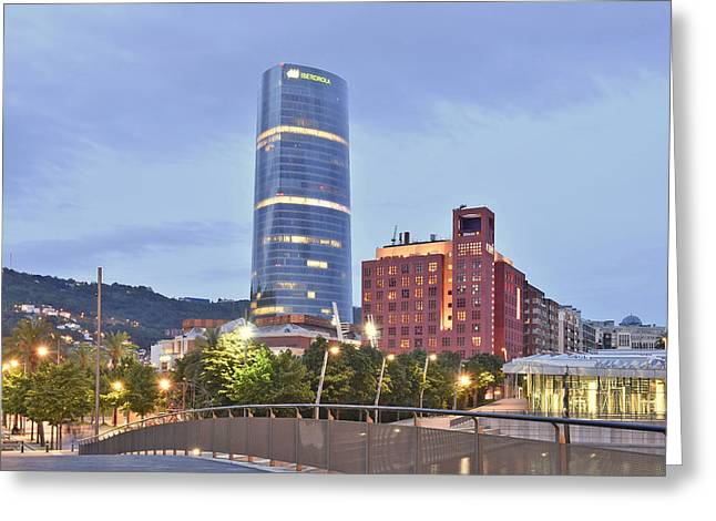 Modern Architecture Bilbao Spain Greeting Card