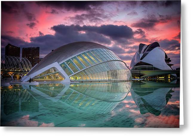 Modern Architecture In Valencia  Greeting Card