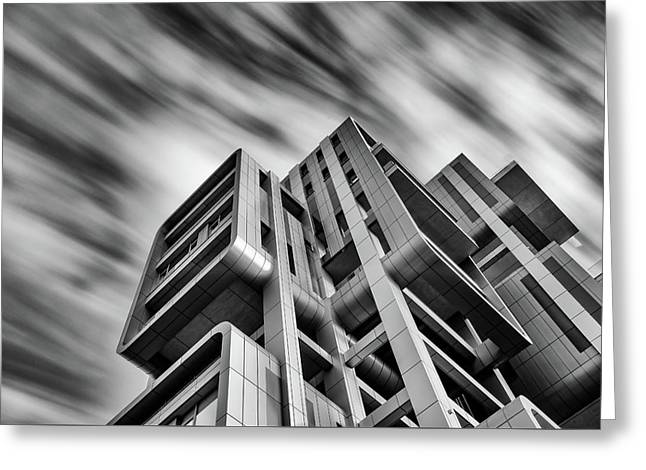 Greeting Card featuring the photograph Modern Architecture by Michalakis Ppalis