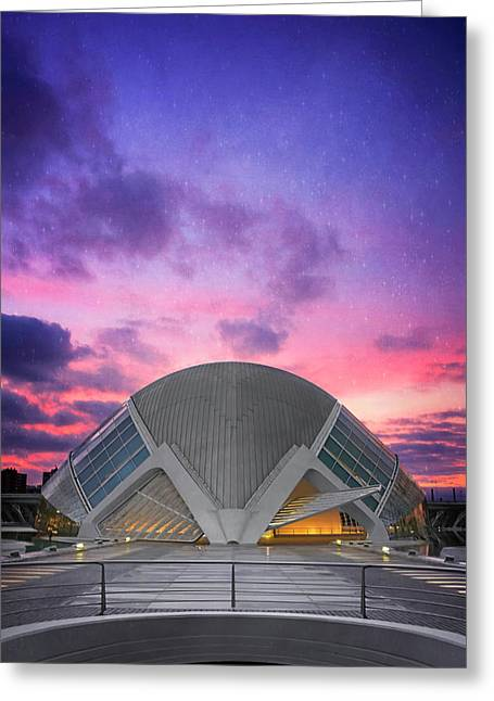 Modern Architecture Of Valencia Spain  Greeting Card