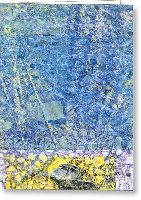 Modern Art - Above And Below - Sharon Cummings Greeting Card by Sharon Cummings