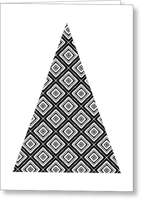 Modern Black And White Tree 1- Art By Linda Woods Greeting Card